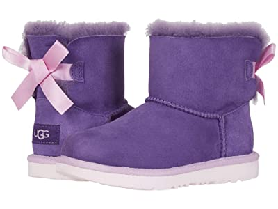 UGG Kids Mini Bailey Bow II (Little Kid/Big Kid) (Violet Bloom) Girls Shoes