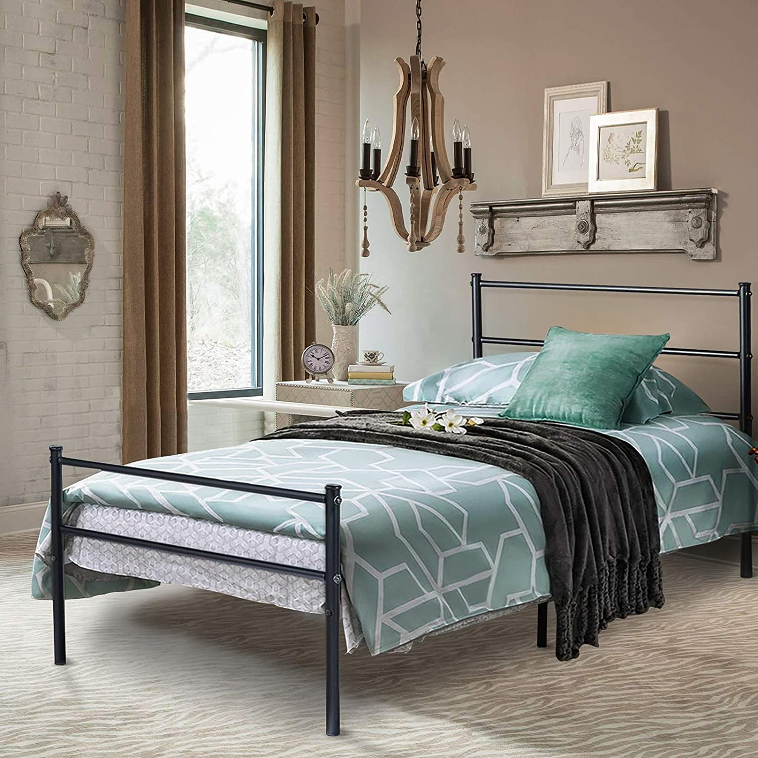 Voilamart Twin Metal Bed 直輸入品激安 Frames Single Storage with 直輸入品激安 He