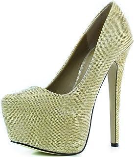 327c84ba3 Women s Extreme High Fashion Pointed Toe Hidden Platform Sexy Stiletto High  Heel Pump Shoes