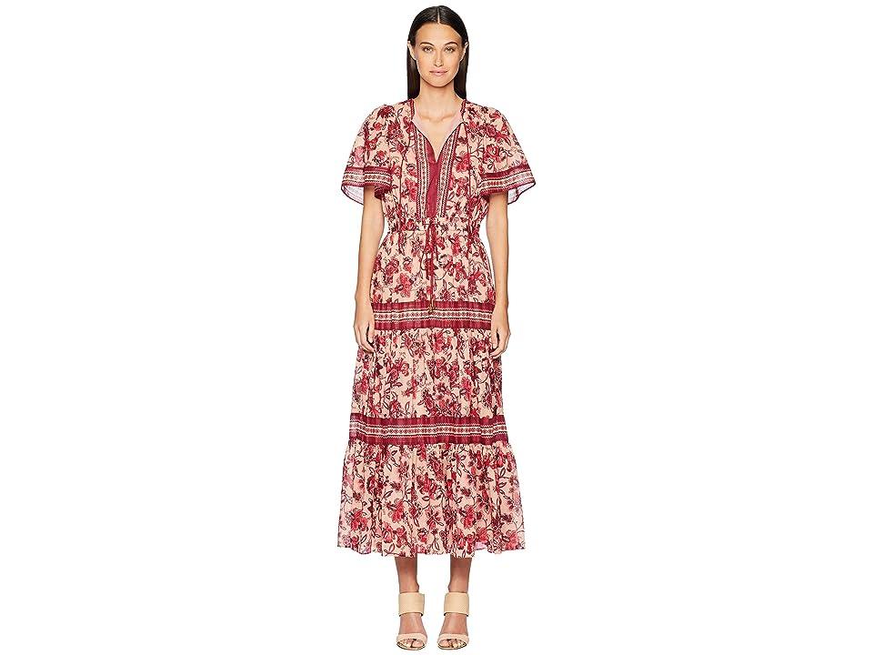 Kate Spade New York Paisley Blossom Patio Dress (Conch Shell) Women