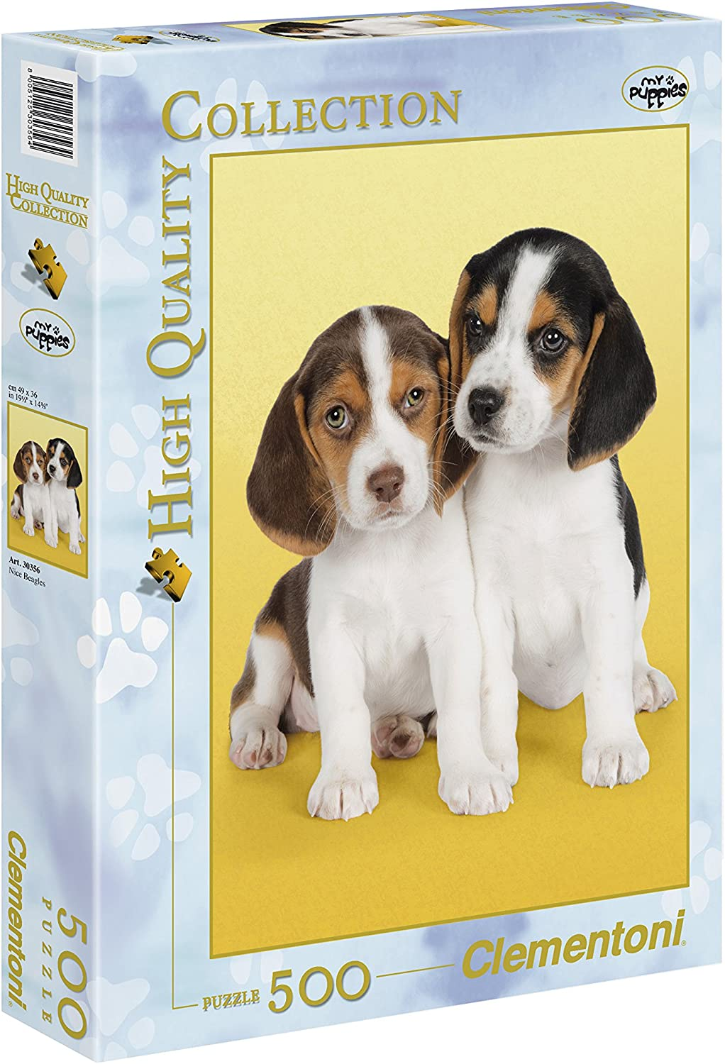 Clementoni 500Piece Puzzle, Beagle Puppies