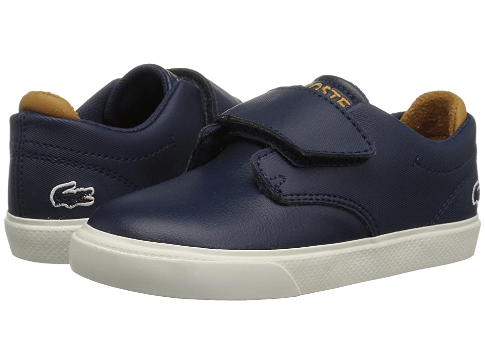 Lacoste Kids Esparre (Toddler/Little Kid) (Navy/Dark Tan) Kid