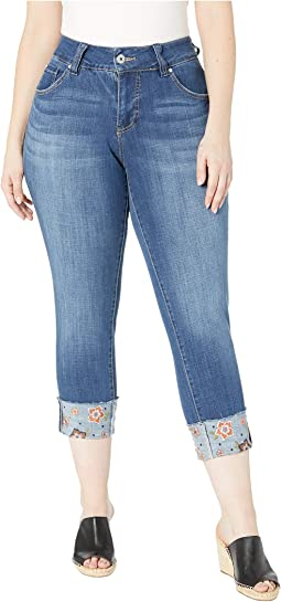 Plus Size Carter Girlfriend Jeans w/ Embroidered Cuff