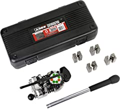 ARES 18012 - Professional Brake Line Flaring Tool - Use on Steel, Stainless Steel, Copper, and Aluminum Tubing - Single, Bubble, and Double 45 Degree Flares - Includes Convenient Storage Case