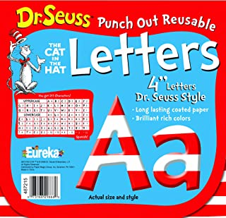 Eureka Back to School Dr. Seuss ABC Letter Cutouts, 200pc, 4'' x 4'' inches