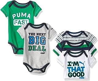PUMA Baby Boys' 5-Pack Bodysuit