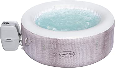 Lay-Z-Spa Cancun Hot Tub, 120 AirJet Rattan Design Inflatable Spa with Freeze Shield Technology, 2-4 Person Capacity