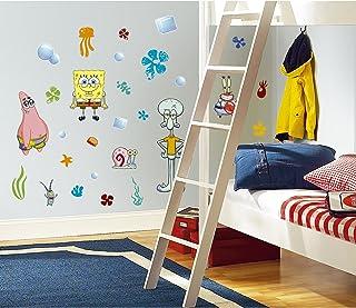 RoomMates Spongebob Squarepants Peel and Stick Wall Decals - RMK1380SCS,Multi,10 inch x 18 inch