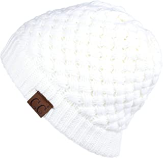 4fee28ae88c C.C Exclusives Knit Warm Inner Lined Soft Stretch Skully Beanie Hat (HAT-47)