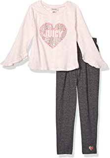 Juicy Couture Girls' 2 Pieces Pant Set