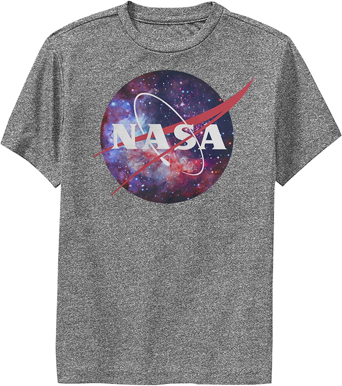 Fifth Sun Boy's NASA Mix Galaxy Style Logo Performance Tee