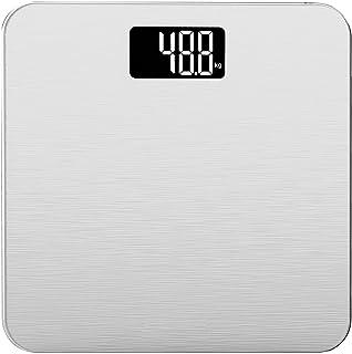 Smart Weigh La báscula electrónica de 180kg para baño con plataforma de equilibrio de vidrio templado y tecnología avanzada Step-On La báscula digital tiene pantalla grande LCD retroiluminada de lectura fácil