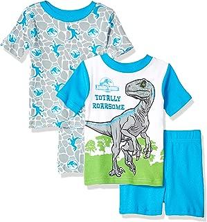 Jurassic World Boys' Toddler 4-Piece Cotton Pajama Set