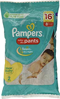 Pampers New Diapers Pants, X-Small, 2 Count