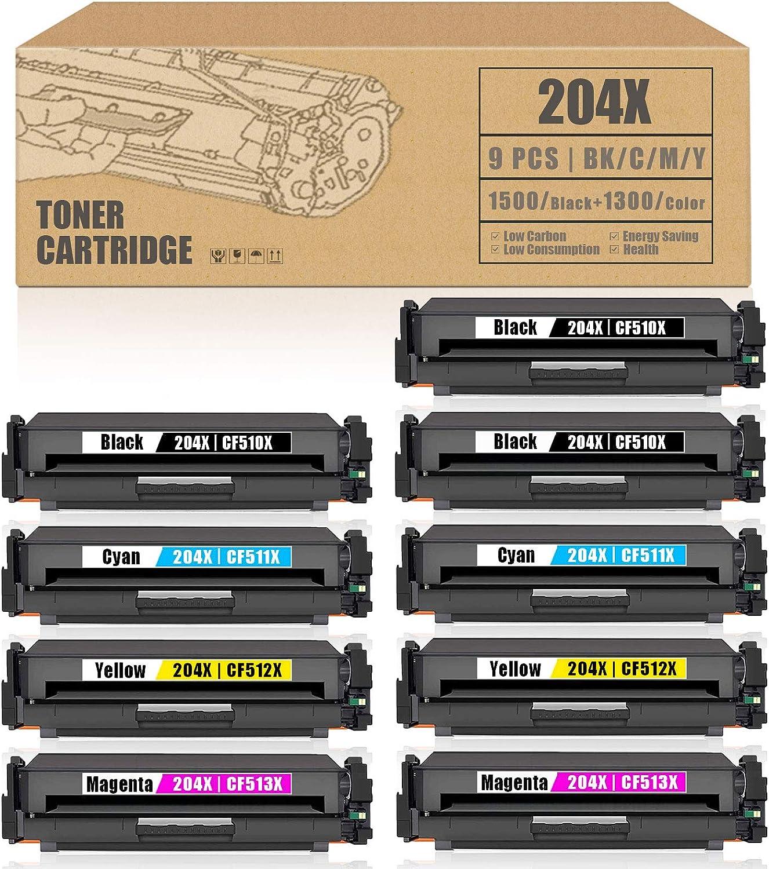 Ranking TOP12 9Pack 3BK+2C+2M+2Y 204X Gorgeous CF510X CF511X CF513XTonerC CF512X