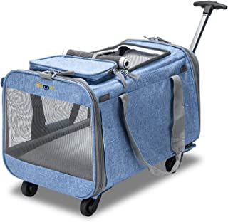 Bonnlo Cat Puppy Pet Wheels Rolling Carrier Stroller - 20