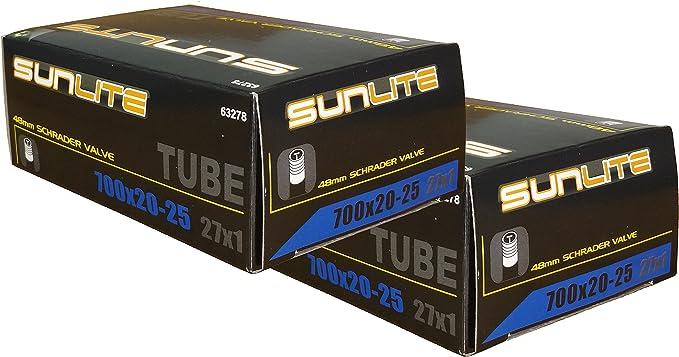 48mm Valve 700 x 23-25 SUNLITE Presta Valve Bicycle Tubes
