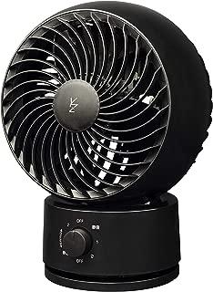 [山善] 扇風機 18cm サーキュレーター 左右自動首振り 風量3段階調節 静音モード搭載 ブラック YAS-KW182(B) [メーカー保証1年]
