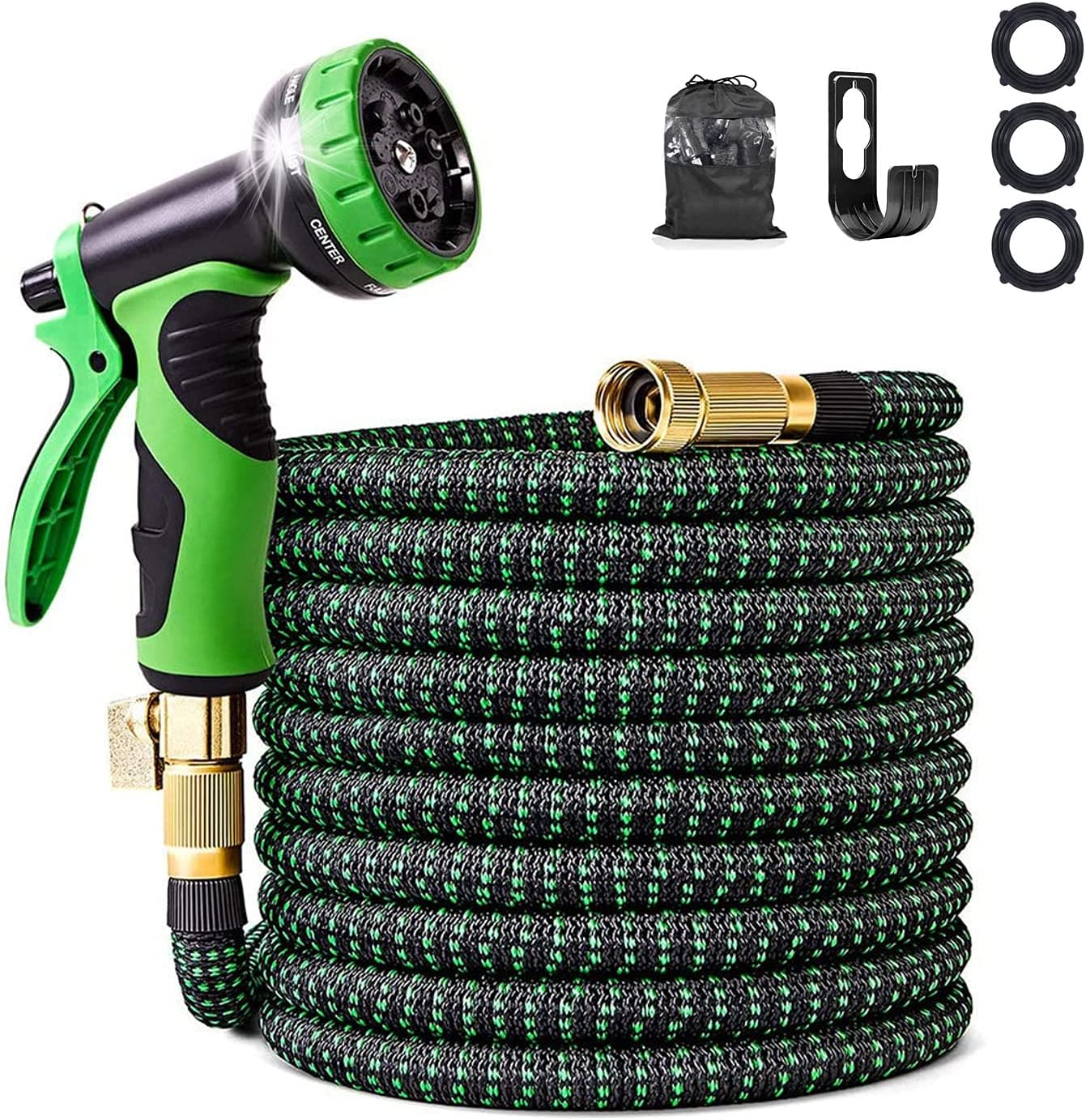 HUISHANGYOUMi Challenge the lowest price of Japan Expandable Garden Hose 50FT Solid Conn 4