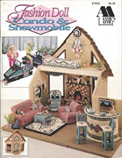 Fashion Doll & Snowmobile Plastic Canvas Pattern, Dollhouse, Girl's Toy, Playhouse, Doll Furniture, Southwest Doll, Annie's Attic