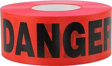 CH Hanson 1000 ft. Red Caution Danger Barricade Tape 3 mil