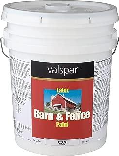 Valspar 3125-70 Barn and Fence Latex Paint, 5-Gallon, White