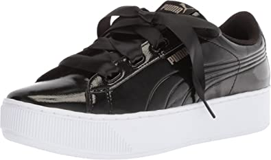 Amazon.com | PUMA Unisex-Adult Vikky Platform Ribbon P Sneaker ...