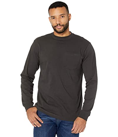 Filson Long Sleeve Outfitter One-Pocket T-Shirt (Faded Black) Men