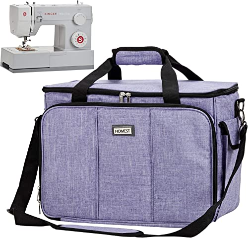 Sewing Machine Carrying Case with Pockets for Most Domestic Sewing Machine