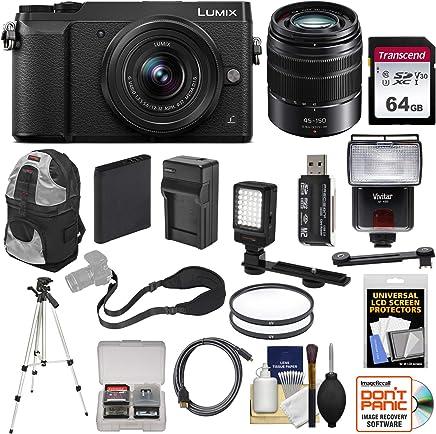 $529 Get Panasonic Lumix DMC-GX85 4K Wi-Fi Digital Camera & 12-32mm & 45-150mm Lens (Black) with 64GB Card + Battery + Charger + Backpack + Tripod + Flash + Filters Kit