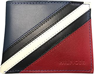 Passcase and Valet Bifold Wallet-Red/Navy/White