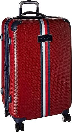 "Basketweave 25"" Upright Suitcase"
