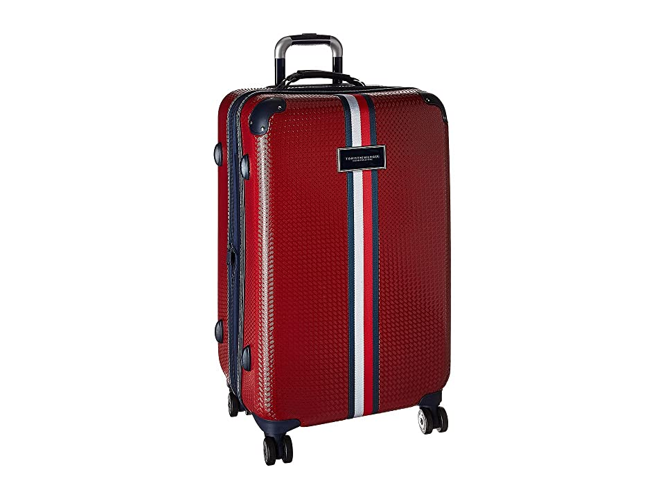 Tommy Hilfiger Basketweave 25 Upright Suitcase (Red) Luggage
