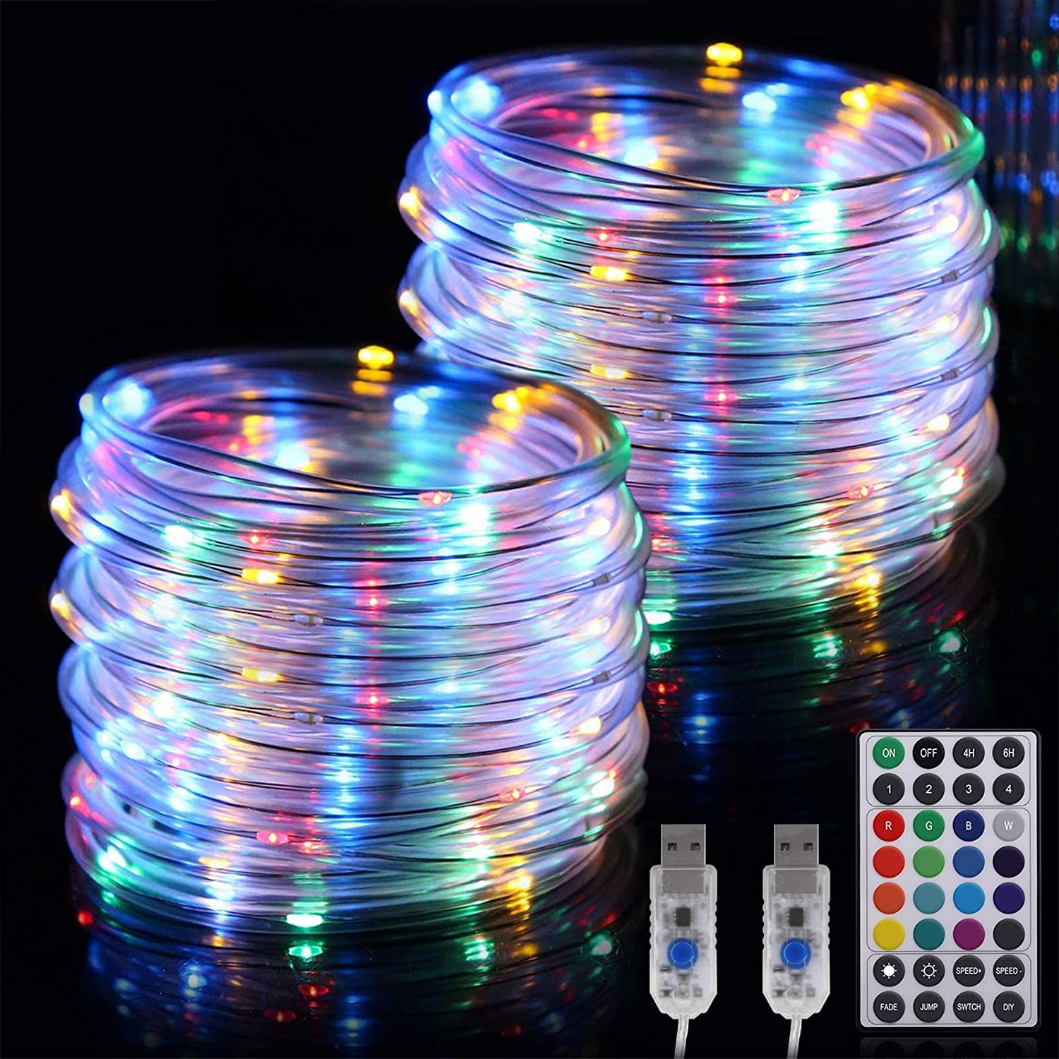 RundA Rope Lights 2 Pack 33 Fairy Max San Jose Mall 89% OFF String FT LEDs 100 wit