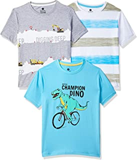 Cloth Theory Boy's Plain Regular fit T-Shirt (Pack of 3)