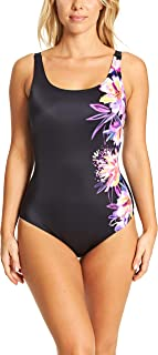 Women's Scoopback Eco Fabric One Piece Swimsuit with Tummy Control and Foam Cups