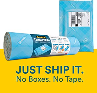 Scotch Flex and Seal Shipping Roll, 10 ft x 15 in, Simple Packaging Alternative to Cardboard Boxes, Bubble Mailers, Poly Bags, Cushioning