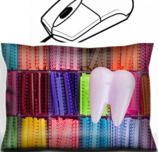 MSD Mouse Wrist Rest Office Decor Wrist Supporter Pillow design 35395932 Tooth model with orthodontics elastomeric rings