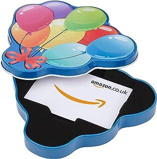 Amazon.co.uk Gift Card in a Happy Birthday Balloons Tin