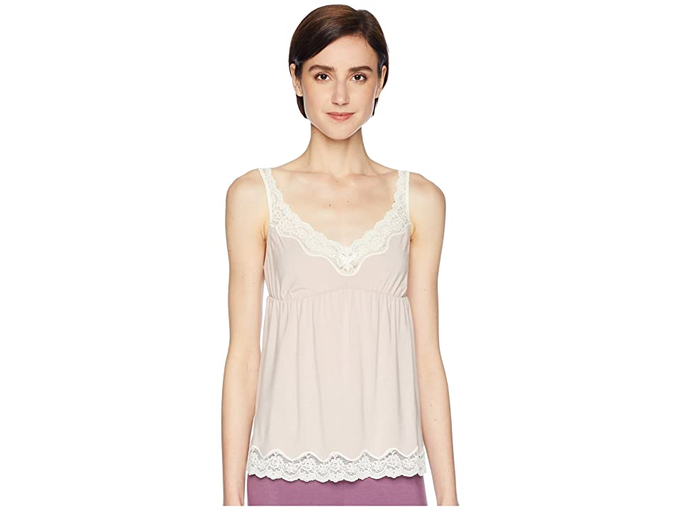 Eberjey New Lady Godiva Cami (Pink Clay/Off-White) Women