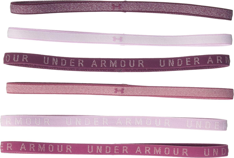 Under Armour Womens Heathered Mini Headbands 6-Pack