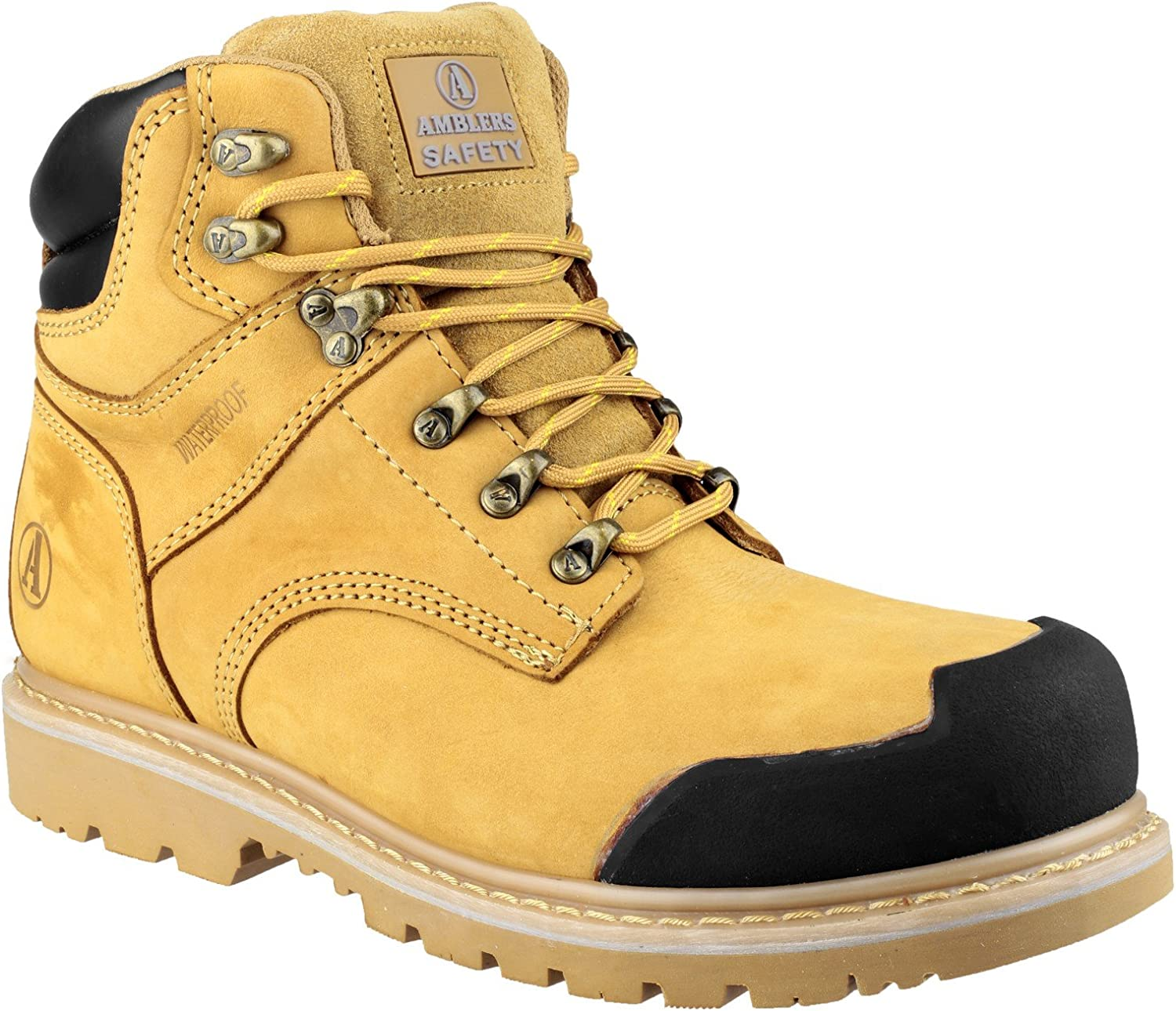 Amblers Safety Mens FS226 Goodyear Welted Waterproof Lace up Industrial Safety Boot Honey Size UK 12 EU 47