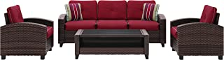 Signature Design by Ashley P333-081 Meadow Town Patio Sectional, Red/Brown