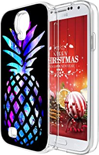 S4 Case Pineapple,Gifun [Anti-Slide] and [Drop Protection] Soft TPU Premium Flexible Protective Cover Case Compatible with Samsung Galaxy S4 - Brightly Colored Marble Pineapple