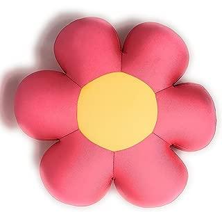 Tache Squishy Pink Field of Flowers Micro Bead Cushion Throw Pillow