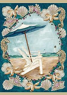 Toland Home Garden Sea Breeze 28 x 40 Inch Decorative Summer Beach Adirondack Vacation Seashell House Flag