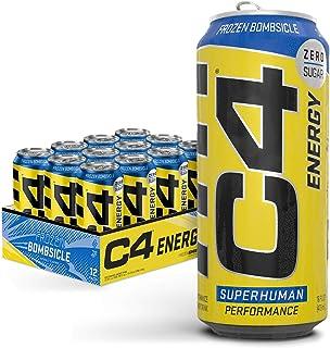 Cellucor C4 Original Carbonated Zero Sugar Energy Drink, Pre Workout Drink + Beta Alanine, Sparkling Frozen Bombsicle, 16 ...