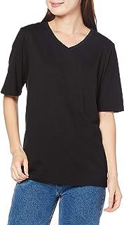 [セシール] Tシャツ Vネック 四分袖 シンプルTシャツ 細見え レディース NB-4675