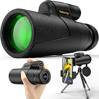 Vabogu Monocular Telescope, 12x50 High Power HD Monocular for Bird Watching Adults with Smartphone Holder & Tripod BAK4 Pr...