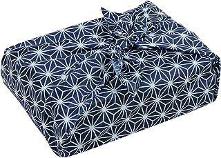 アストロ 風呂敷 エコバッグ 大判 約100×100cm ネイビー 麻の葉柄 ポリエステル 洗える 清潔 821-74 大